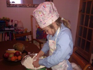 rub fat into flour