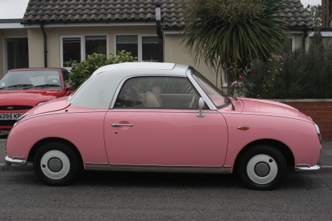 pink figaro side view