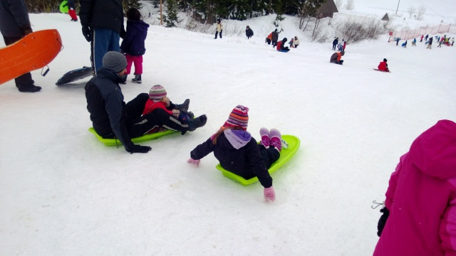 Then we all went down the big slope.