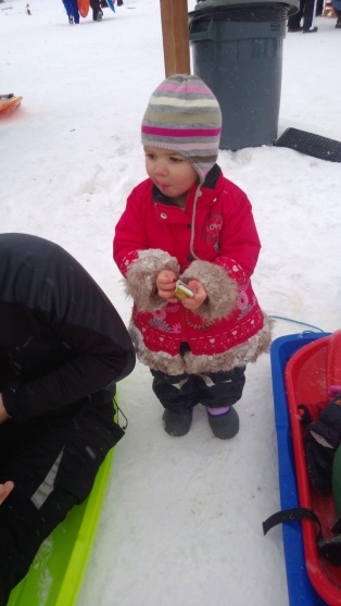 A snack to fuel more fun. NB. There is nowhere to get food or drink at the snow park so a flask of hot soup and some snacks is a good idea.