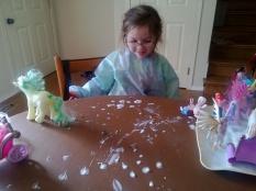 shaving foam play