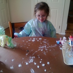 shaving foam play