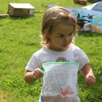 Outdoor Play: Catching Butterflies