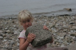 Playing with loose parts on the beach