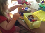 Using loose parts with a large piece of clay
