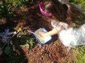outdoor sensory play