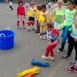 Throwing pigs, field day activities.