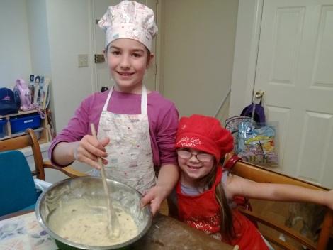 making huckleberry muffins