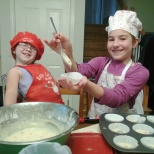 cooking huckleberry muffins