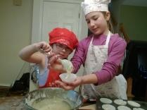 baking huckleberry muffins