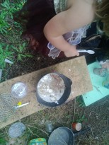 outside mud kitchen/potion making