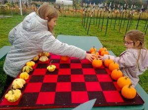 pumpkimn checkers