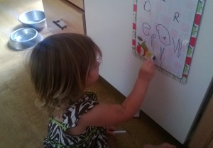 writing toddler