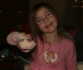 hand puppet made by child