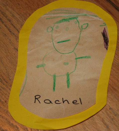 childs drawing of people