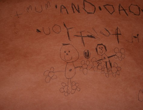 child's drawing of people