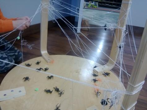 spider web on table