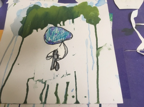 children's rain painting