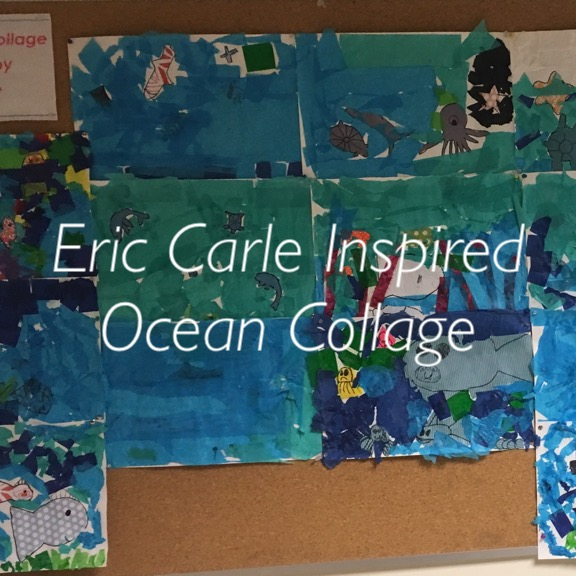 Collage Inspired by Eric Carle.