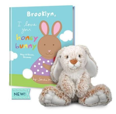 I Love You Honey Bunny & Plush Gift Set