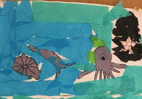 ocean Eric Carle collage
