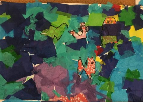 Eric Carle inspired collage