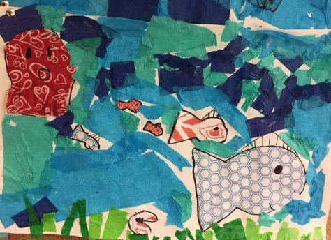 Eric Carle Ocean collage