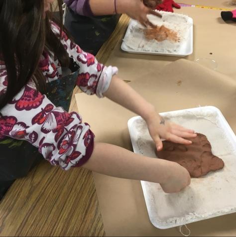 flattening clay