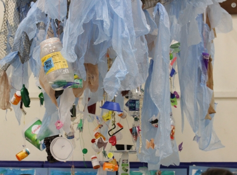 recycled plastic art project