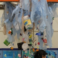 Recycling Plastic into Art Inspired by the Washed Ashore Project.