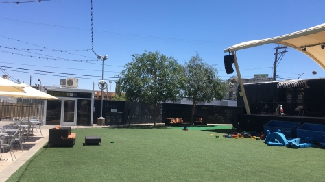 The play and stage area container park