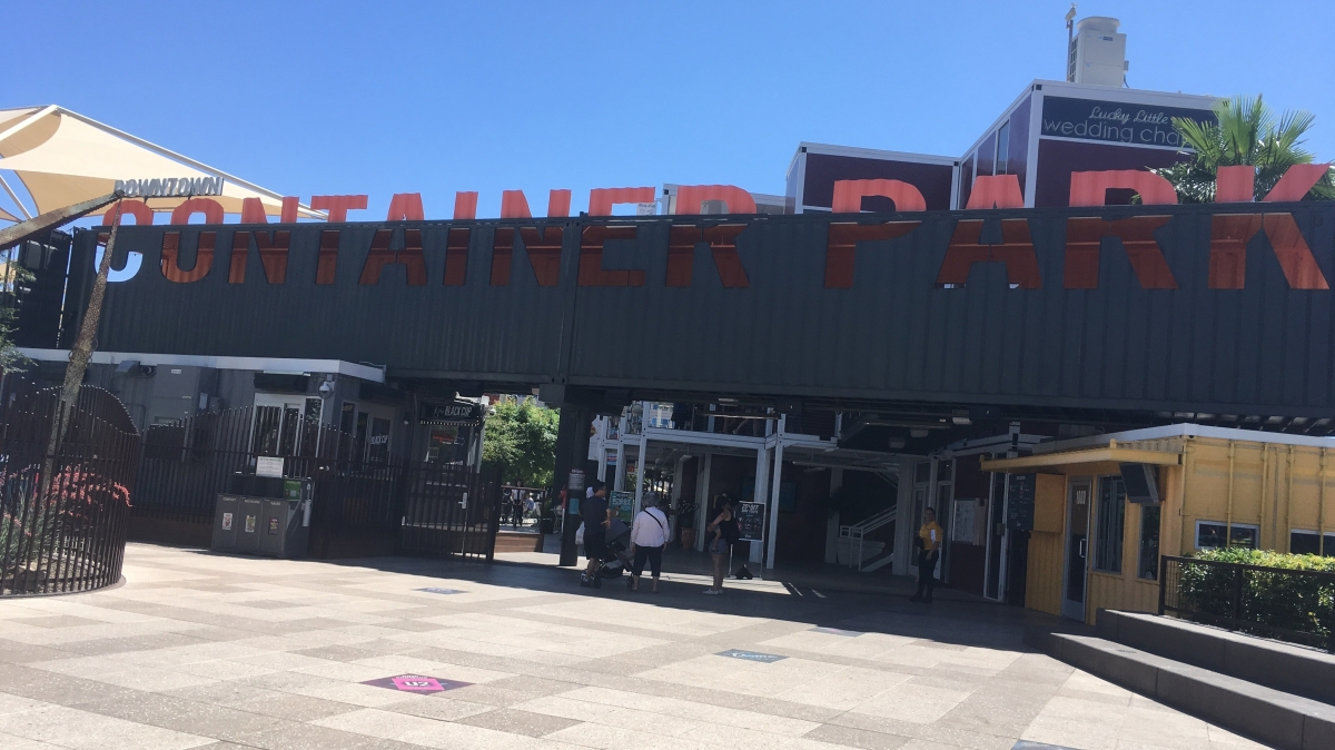 Family friendly spaces the container park las vegas right from the start - Container homes las vegas ...