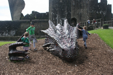 dragon at caerphilly