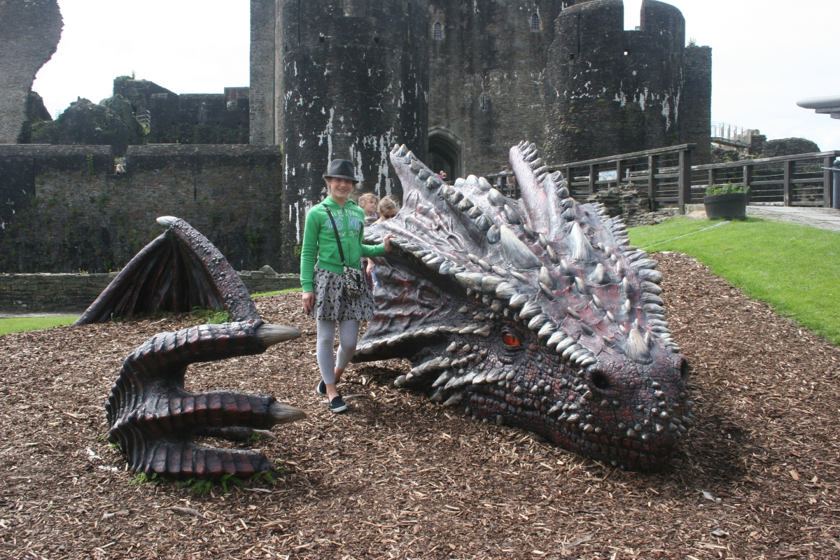 Meeting  a Dragon & Treasure Hunting at Caerphilly Castle