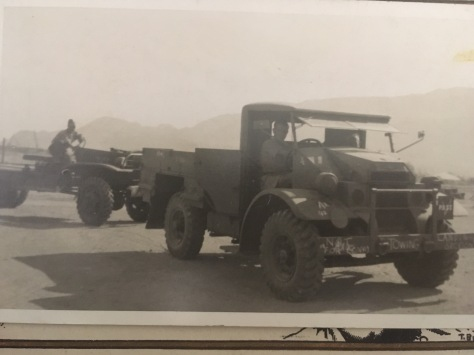 my grandad driving a lorry in WW2