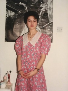 80's style, Laura Ashley dresses and doc martins