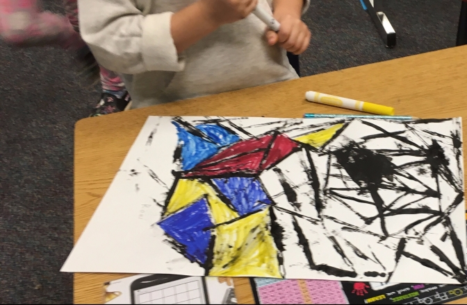 An Art Project About Line Inspired by Piet Mondrian