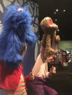 puppeteers at the jm henson exhibition MoPop