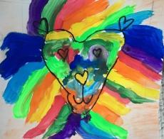 1st grade art leroy neiman lions