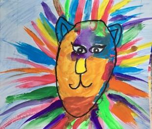 1st grade art lions