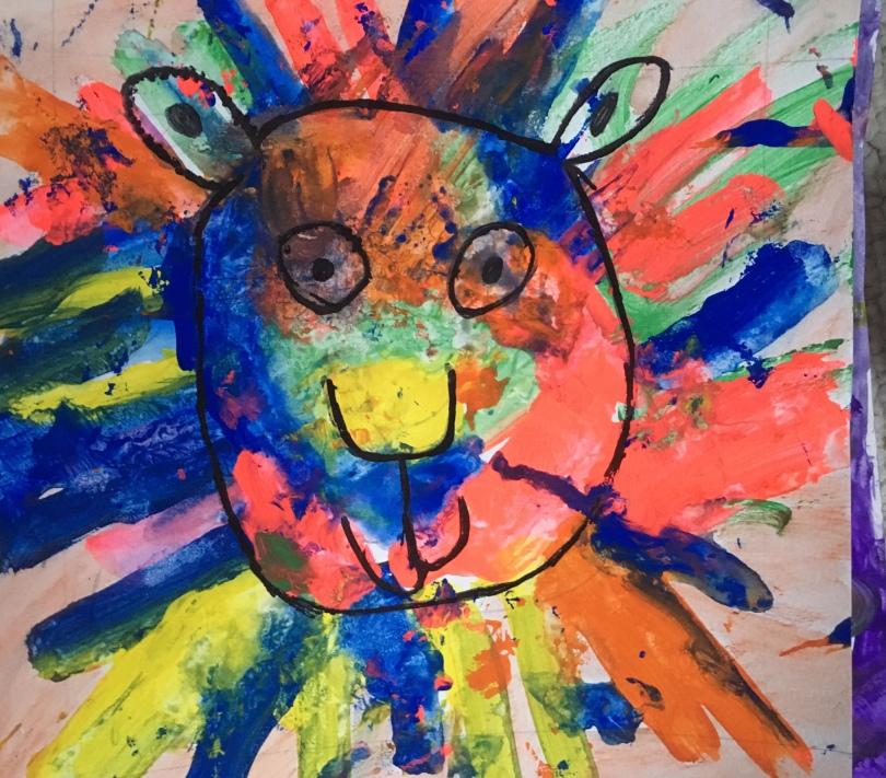 1st grade art lesson