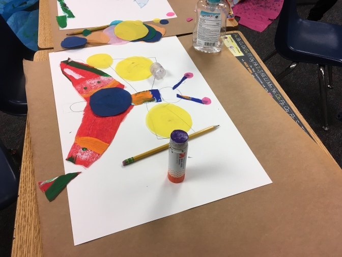 Art Lesson: Eric  Carle Inspired Textured Collage (1st Grade)