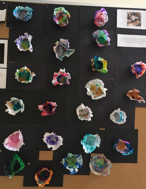 art project inspired by chihuly's macchia
