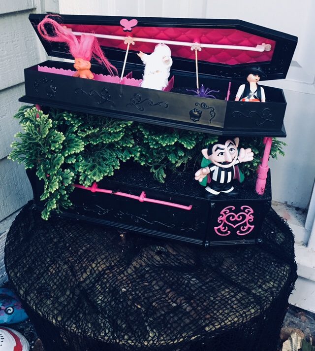 coffin planter made from toy