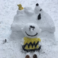 Had Enough of Snow? These Peanuts Snow Sculptures will Make you Smile.